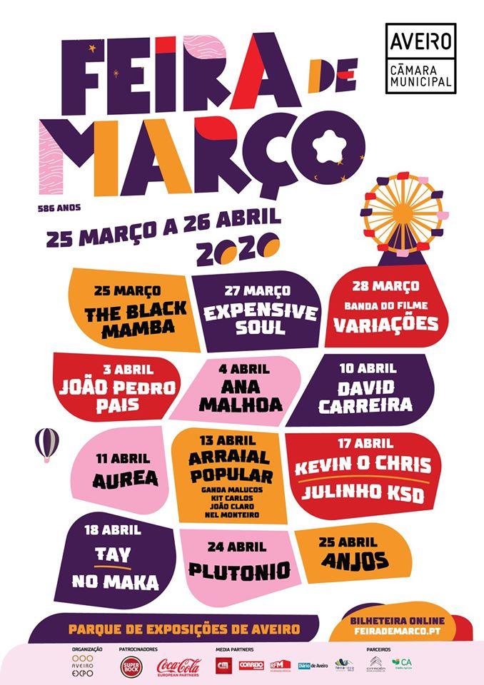Cartaz da Feira de Março 2020